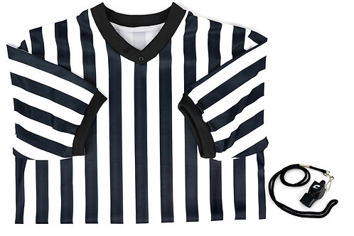 Basketball Referee Shirt and Whistle