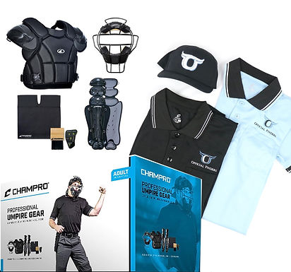 Adult Umpire Kit w/ 2 Shirts & a Hat