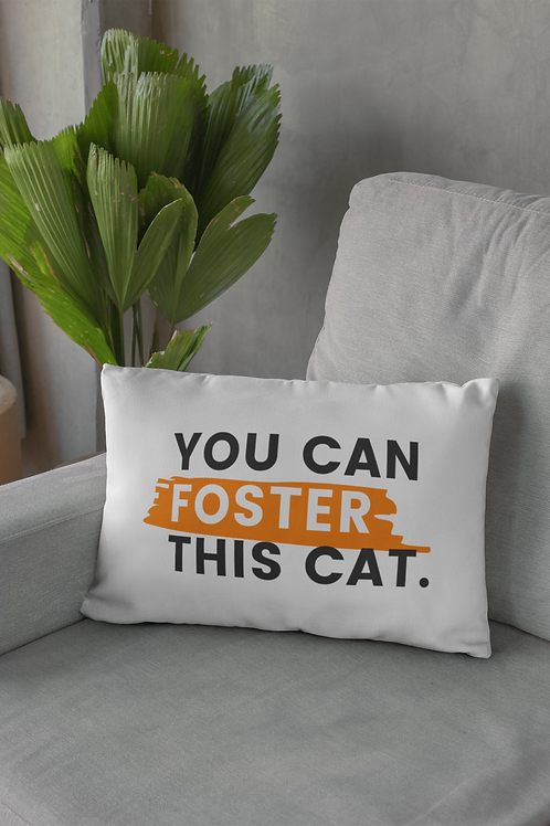 You Can Foster This Cat Pillow