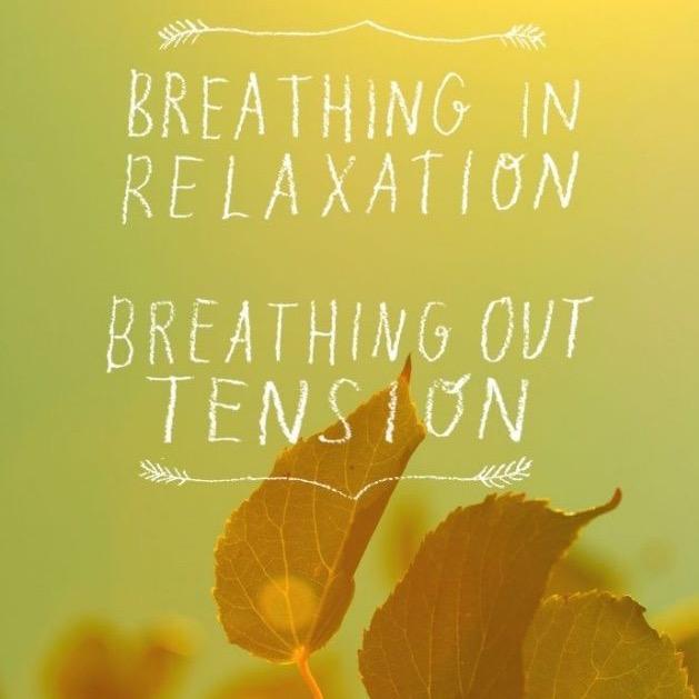 3 respirations, longues & profondes