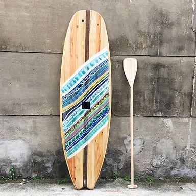 木製立槳式衝浪板