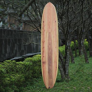 木製長板衝浪板