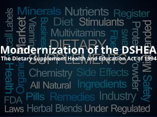 Modernization of DSHEA