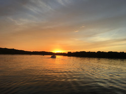 Boating off into the sunset