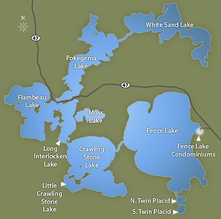 Lac du Flambau Fence-Lake-Chain