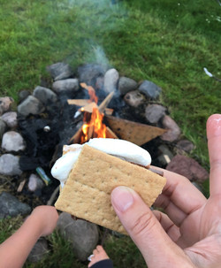 S'mores at the campfire