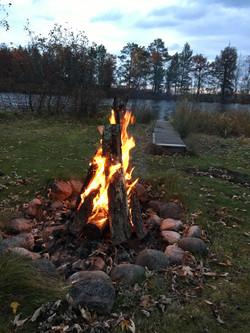 Campfire on the lanai