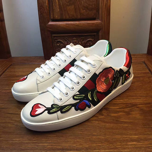 Gucci Ace Sneakers White with Rose