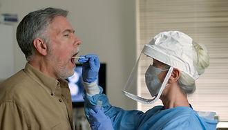 A mature Caucasian man in a clinical set