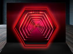 Неоновый туннель - шестигранник