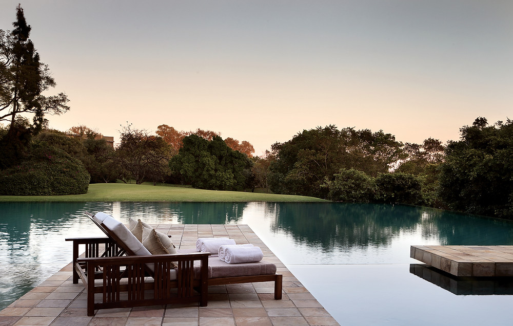 The Pool at the Saxon Hotel in Johannesburg, South Africa.