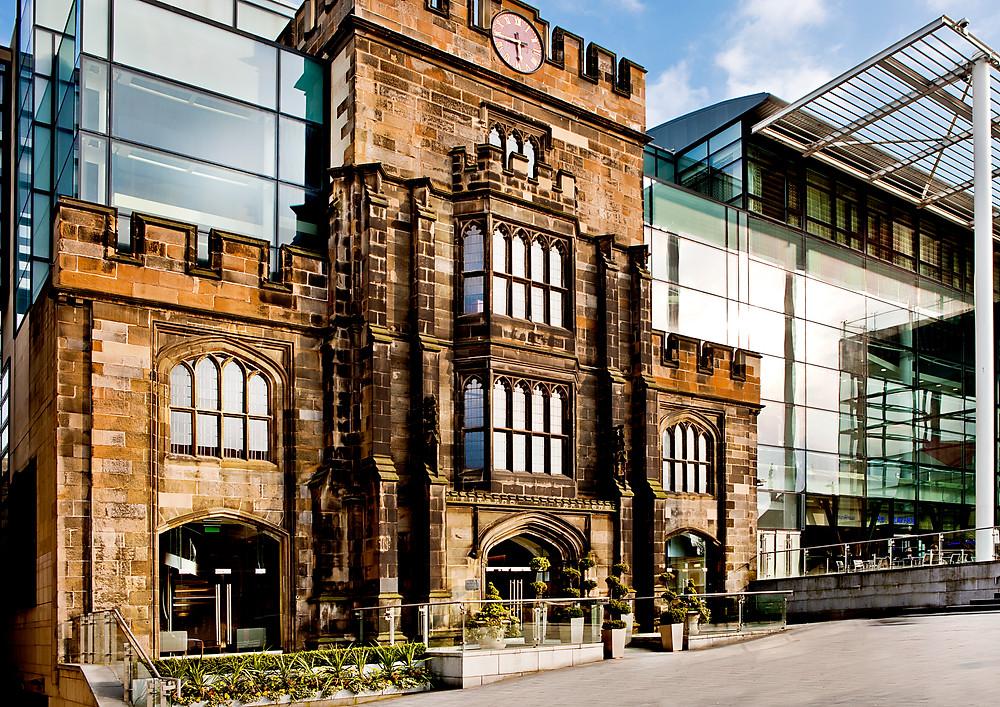 The facade of the Glasshouse in Edinburgh.