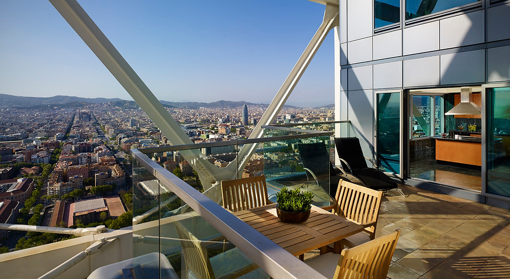 Penthouse Terrace at Hotel Arts Barcelona