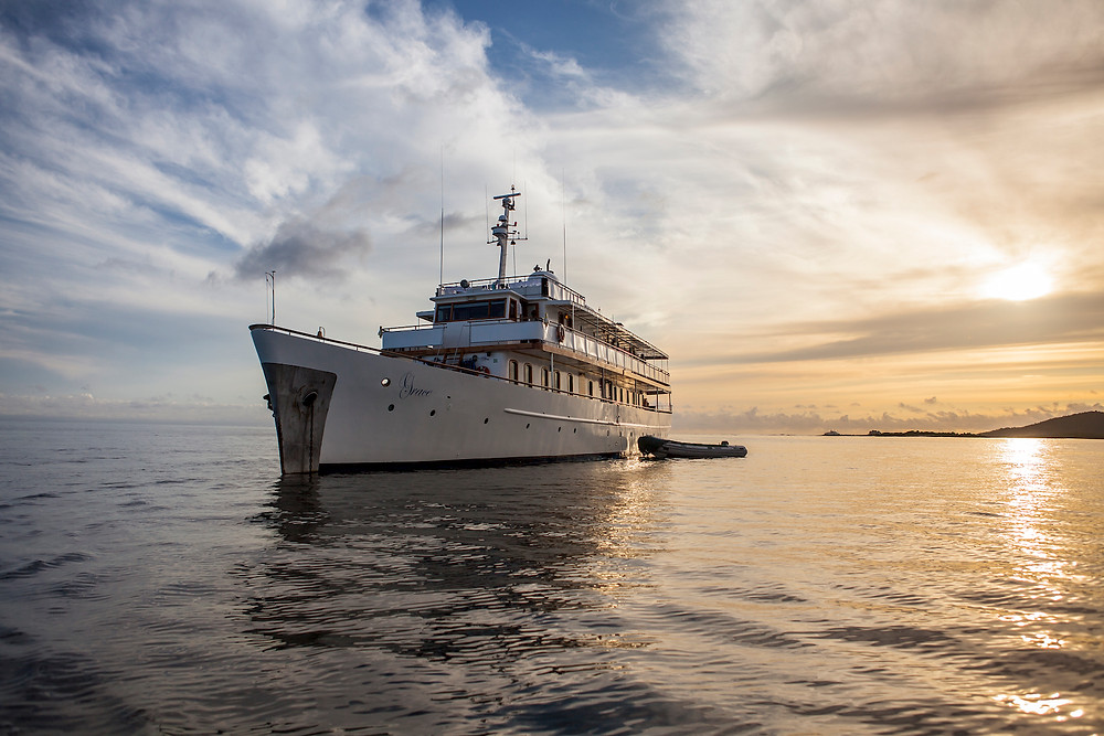 The M/Y Grace of Quasar Expeditions in the Galapagos Islands