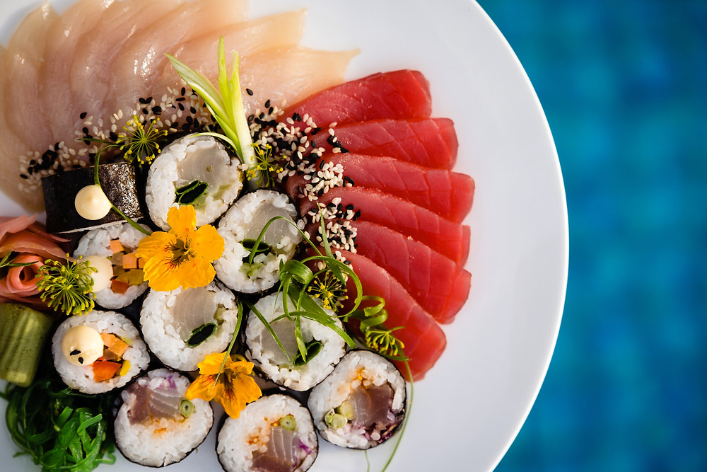 Fresh Sushi available at Fregate Island Private.