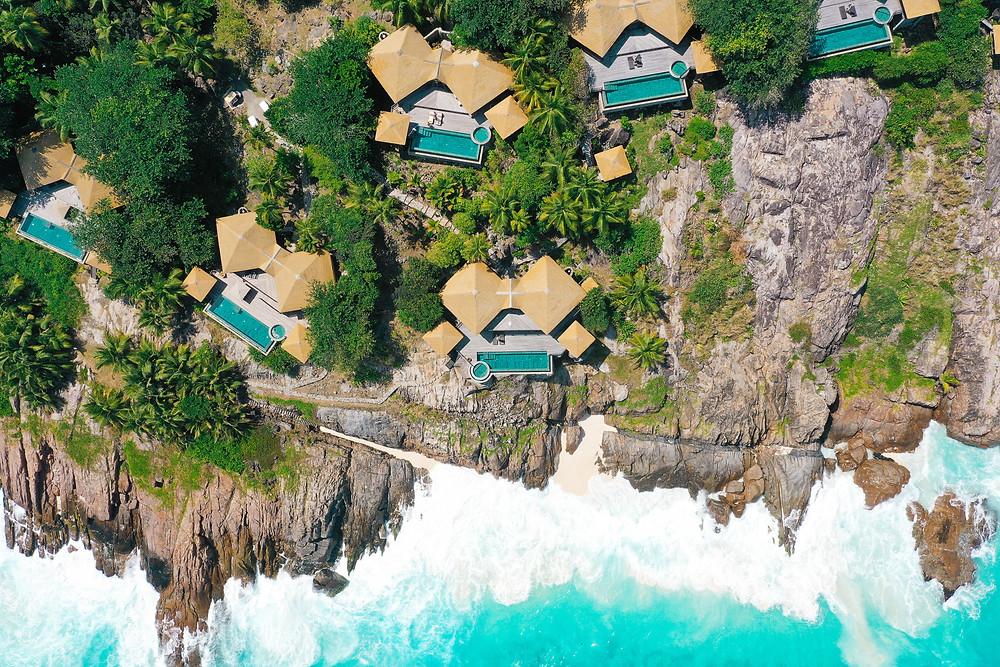 The villas at Fregate Island Private