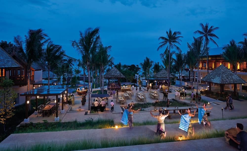 The outdoor market at the Ritz Carlton Koh Samui.