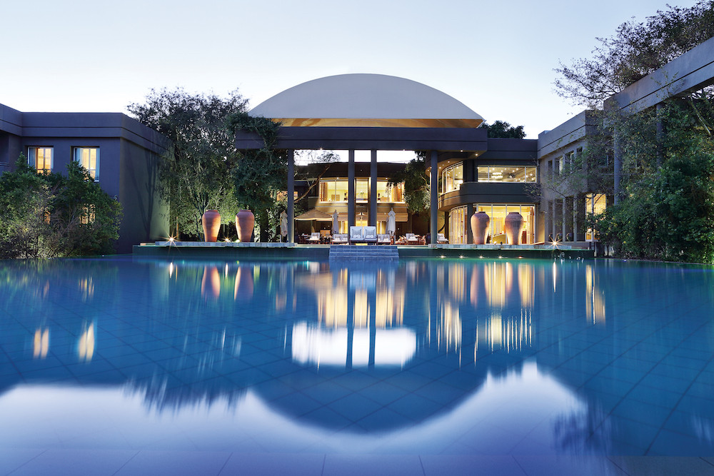 Saxon Hotel pool in Johannesburg
