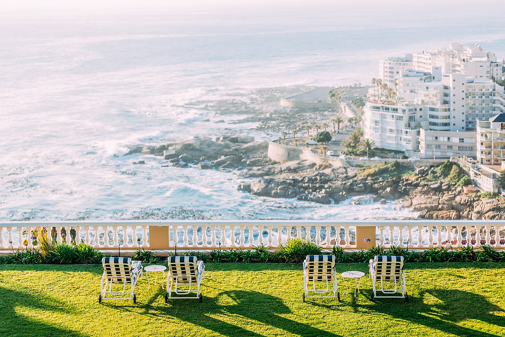 The view of the seashore at Ellerman House in Capetown, South Africa.