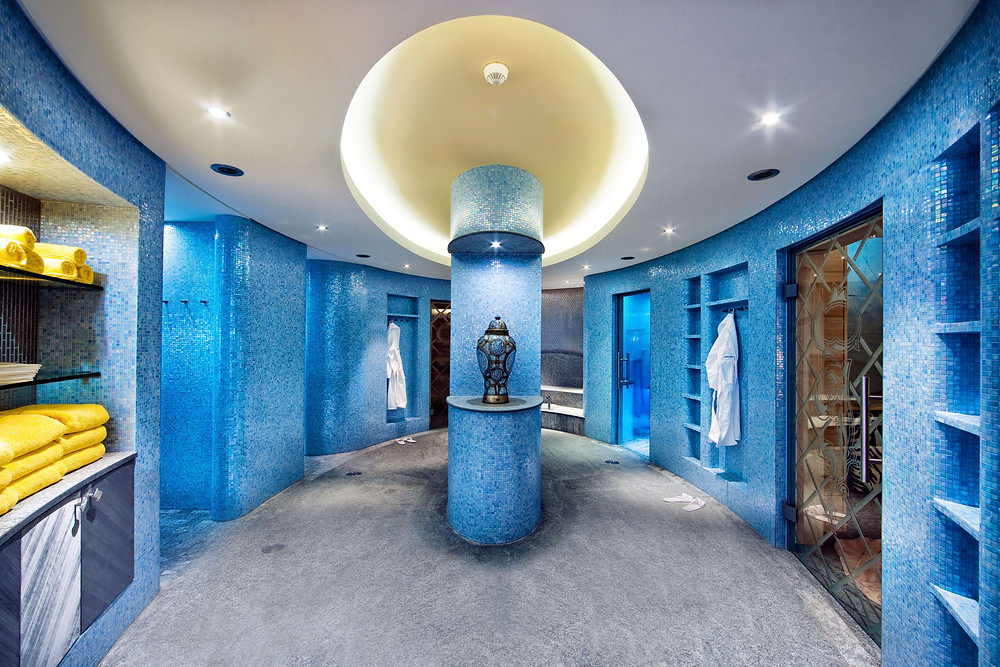 The spa at the Hotel Eden Roc, part of the Tschuggen Hotel Group in Ascona, Switzerland.
