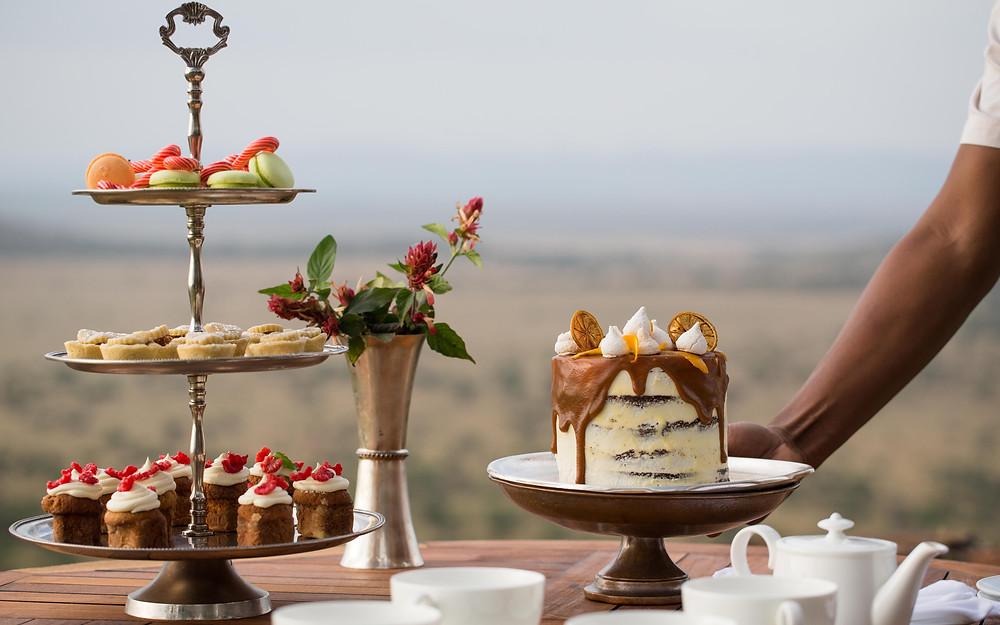 Singita Sasakwa Lodge tea spread