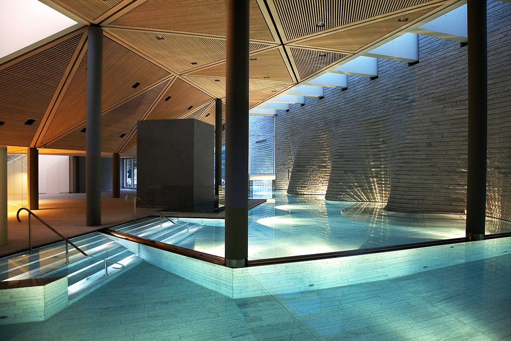 The spa at the Tschuggen Grand Hotel.
