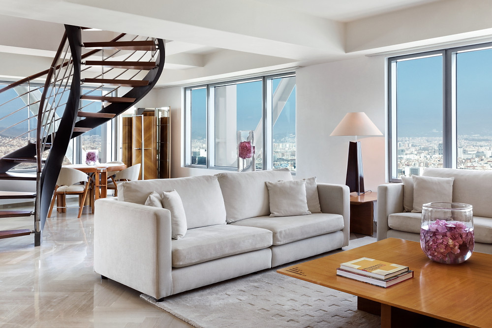 The penthouse at Hotel Arts Barcelona