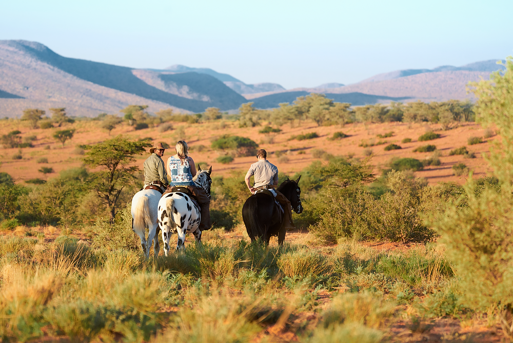 Horseback riding at Tswalu Kalahari