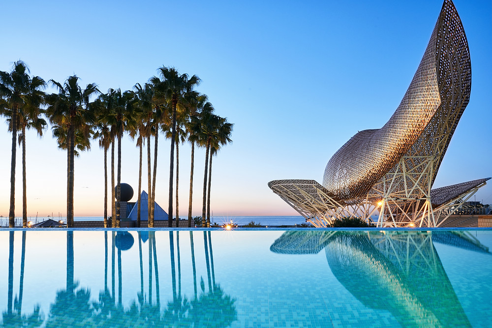 The pool at the Hotel Arts Barcelona in Spain.