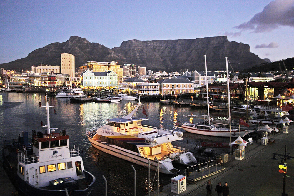 The yachts in the harbor in Cape Town, South Africa near Ellerman House