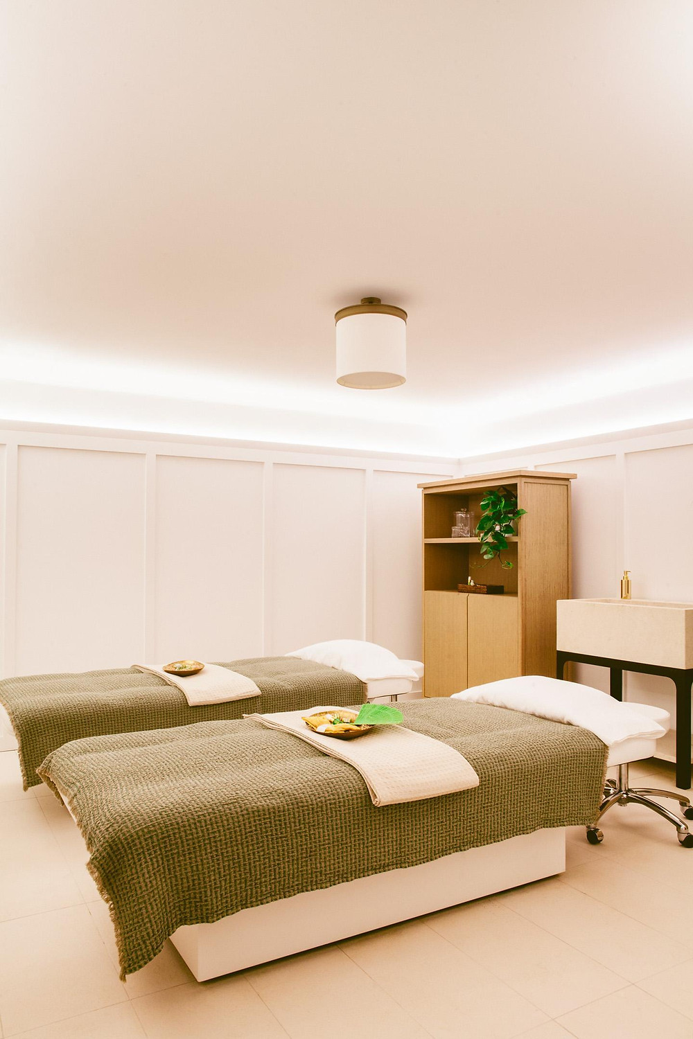 The spa at the Hotel Lou Pinet.