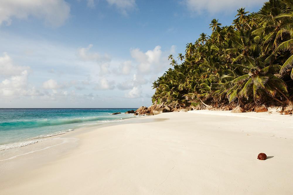 Private Beach at Fregate Island