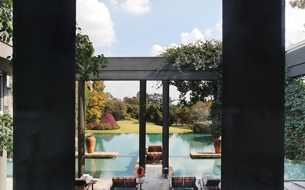 The Nelson Mandela Suite at the Saxon Hotel, Villas, and Spa in Johannesburg, South Africa.