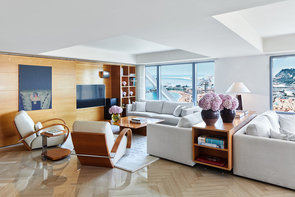 The Presidential Suite at the Hotel Arts Barcelona.