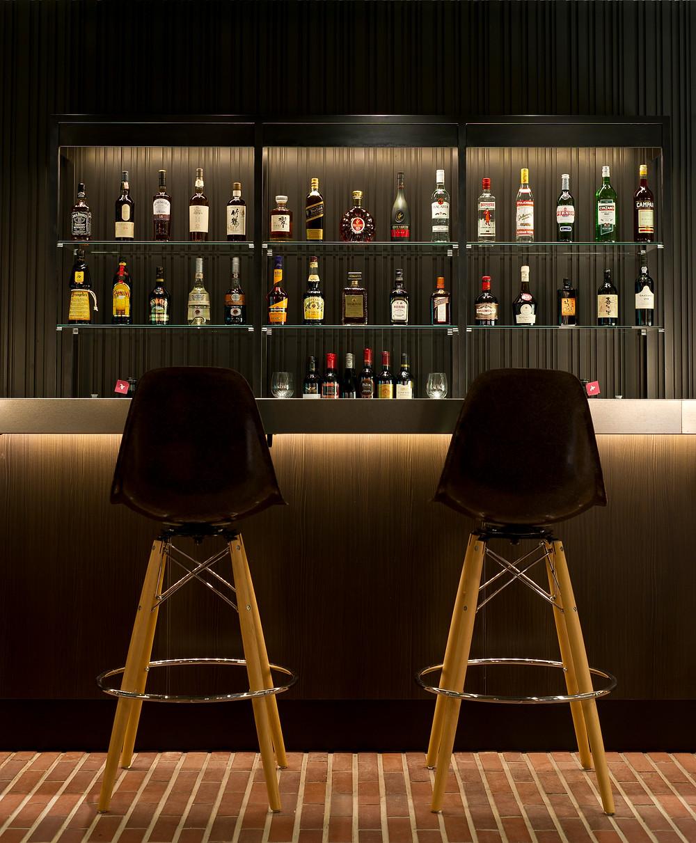 The hotel bar at the Green Leaf Niseko.