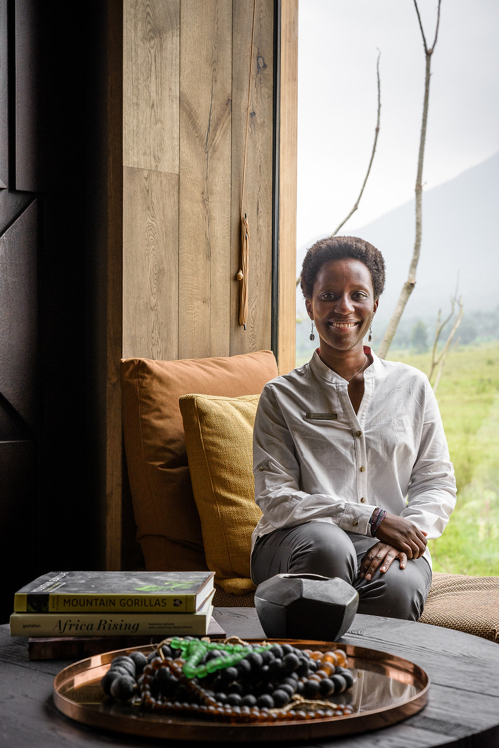 Lydia Nzayo, the General Manager at Singita Kwitonda Lodge