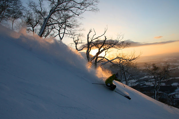 Sunset in Niseko Village