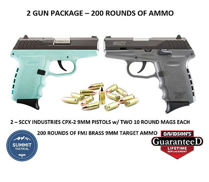 2 GUN 9MM and AMMO PACKAGE