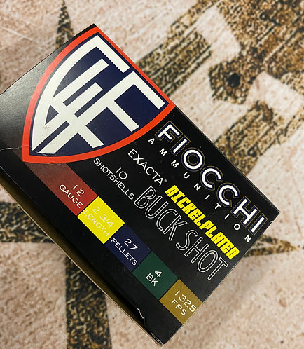 "FIOCCHI Tactical ""04"" 12ga Buckshot - 10rd Box"