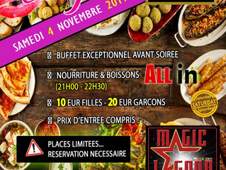 Buffet exceptionnel d'avant soirée Ladies Night du 04 novembre 2017