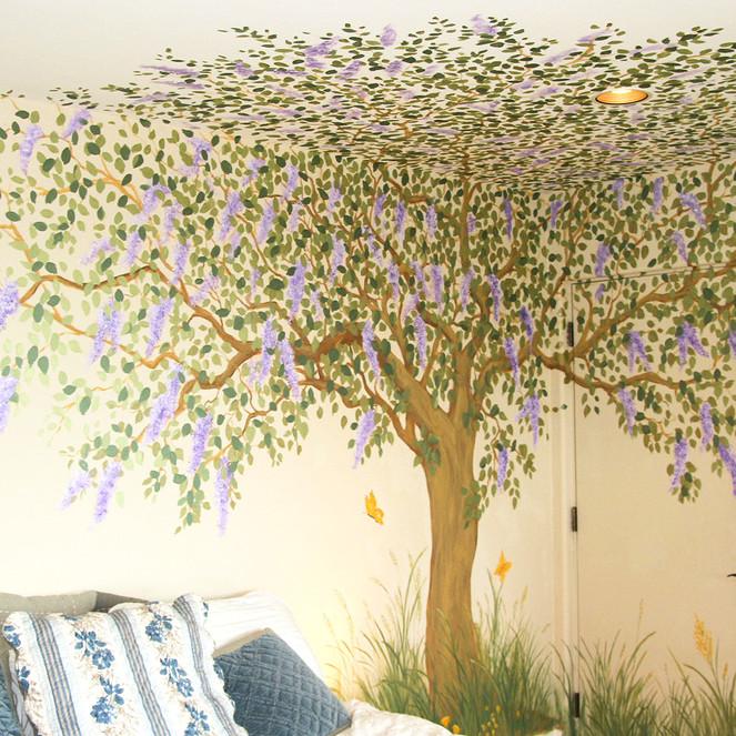Tree Mural in El Granada