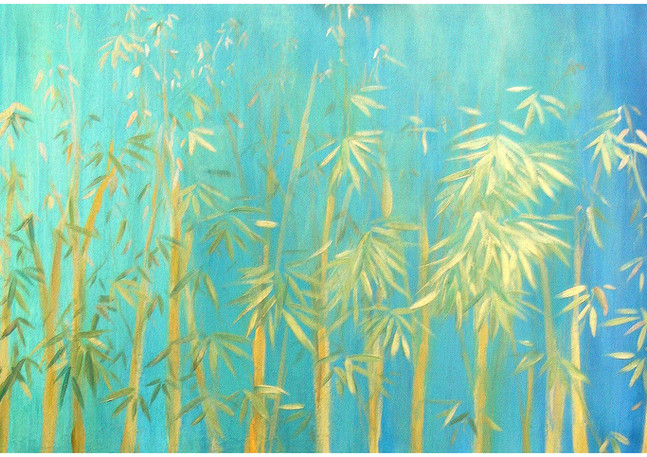"""""""Bamboo Forest"""" Top two panels"""