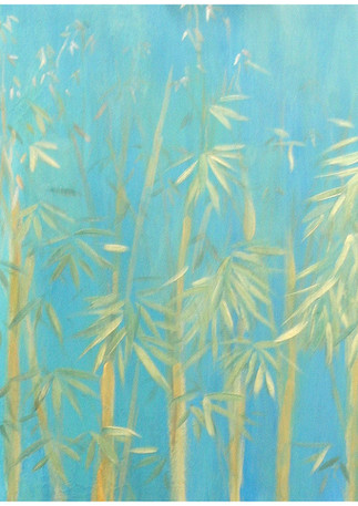 """""""Bamboo Forest"""" Top painting of 3"""