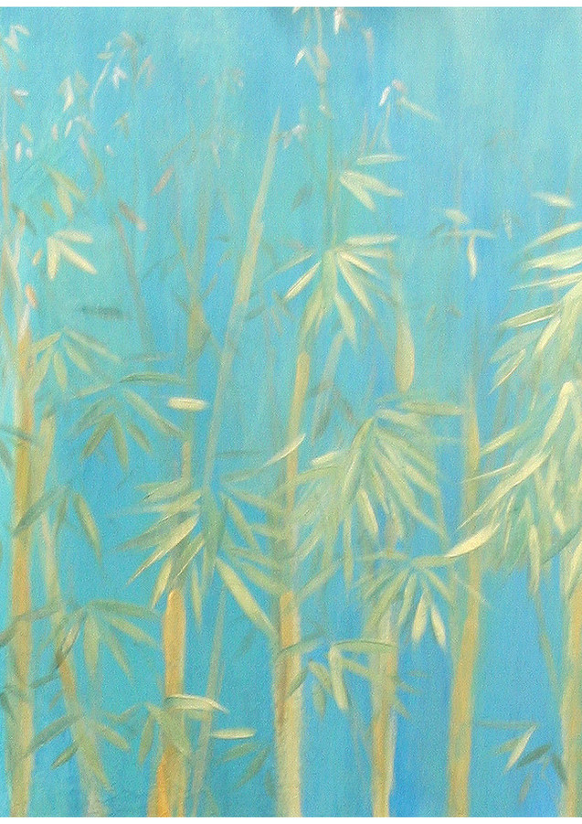 """Bamboo Forest"" Top painting of 3"