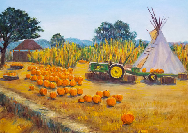 """Happy Harvest - Farmer John's Pumpkins"" - Half Moon Bay"