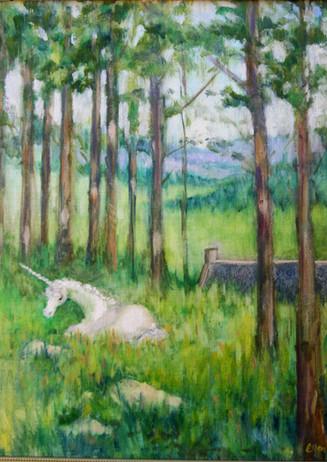 """""""Unicorn at Rest"""" - Findhorn, Scotland"""
