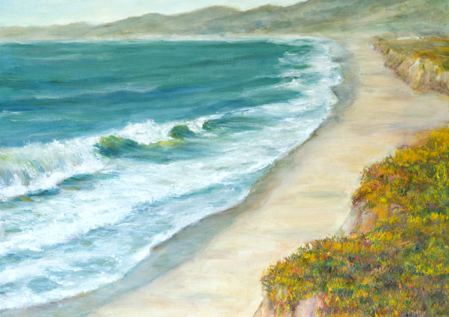 """Poplar Beach Cliff"" - Half Moon Bay"