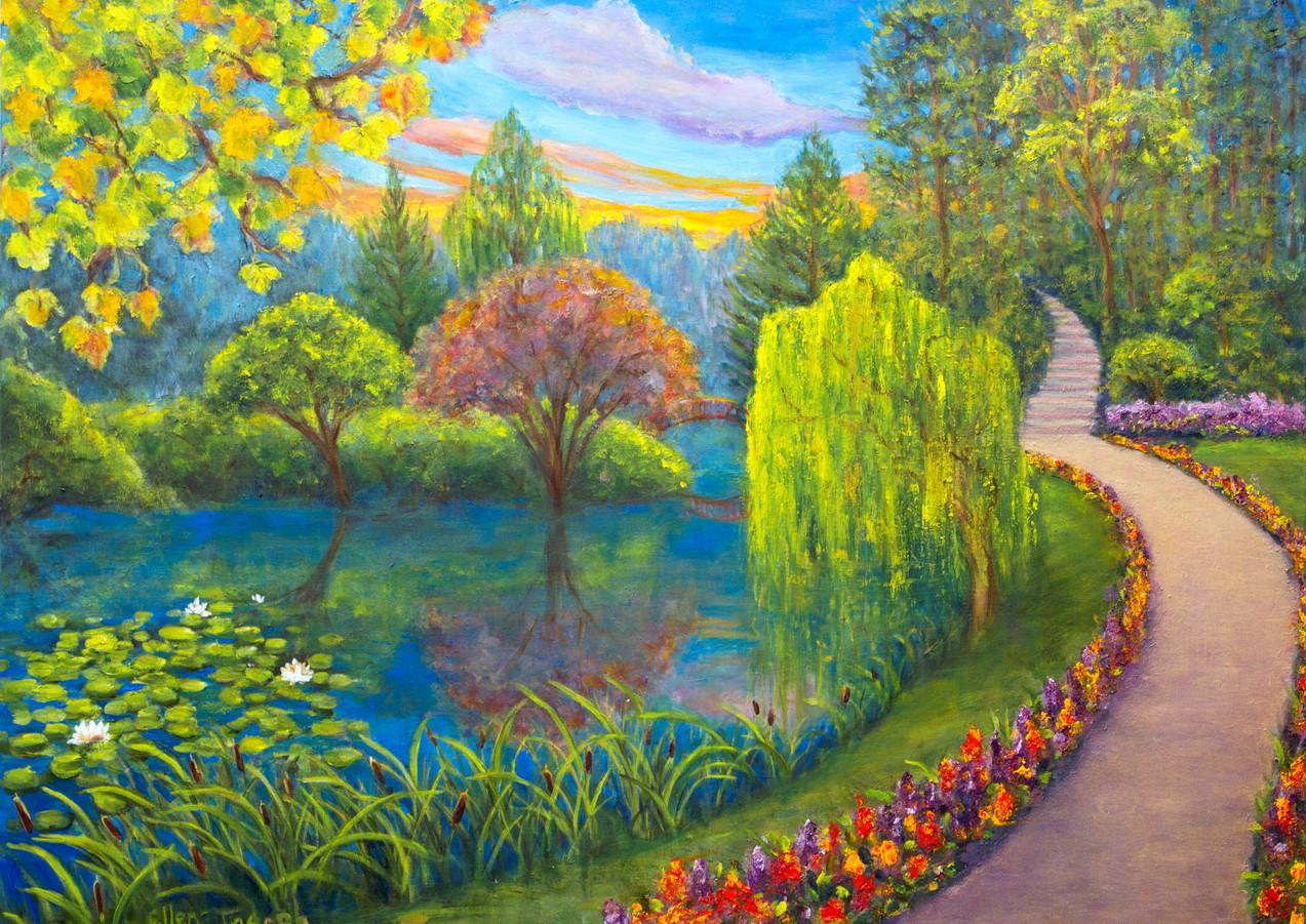 """Garden Walk"" - Butchart Gardens, Vancouver Island"