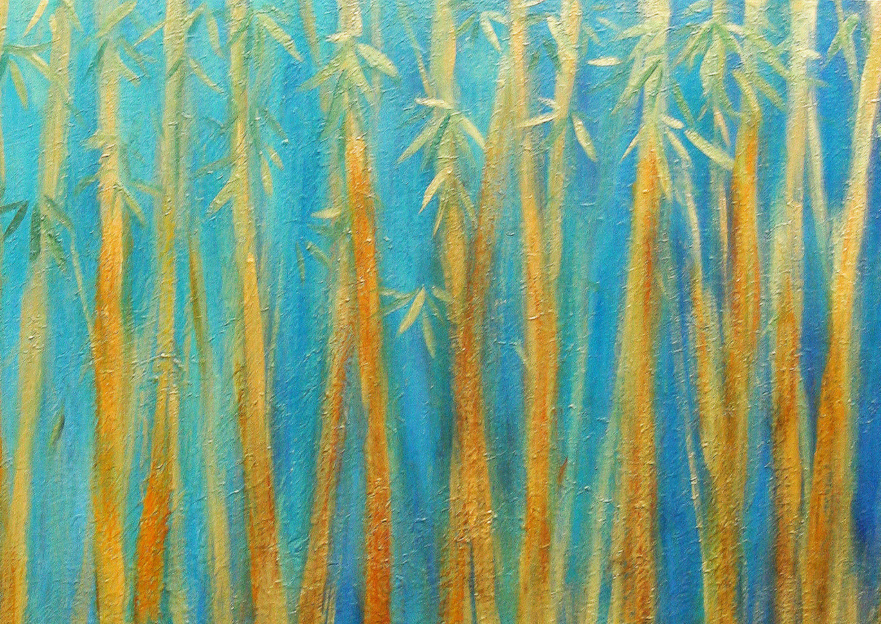 """Bamboo Forest"" Middle painting of 3"