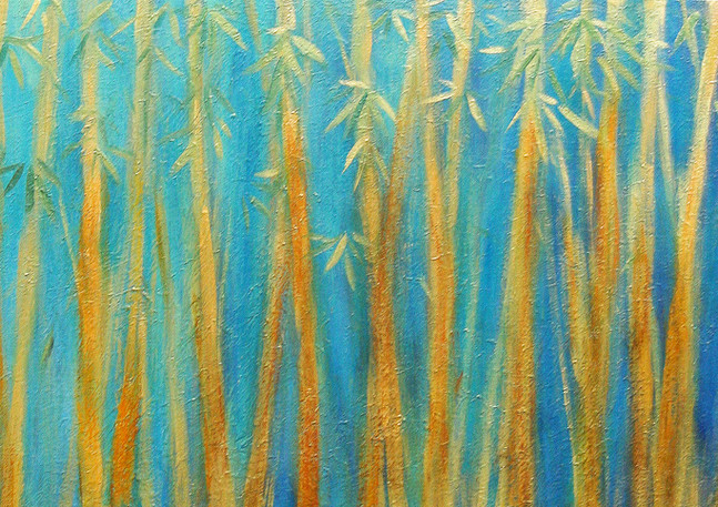 """""""Bamboo Forest"""" Middle painting of 3"""